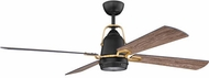 Craftmade BEC52FBSB4 Beckett Flat Black / Satin Brass LED 52  Ceiling Fan