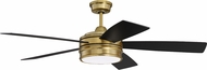 Craftmade BRX52SB5 Braxton Satin Brass LED Home Ceiling Fan