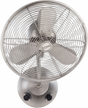 Craftmade BW116SS3 Bellows I Contemporary Stainless Steel Indoor / Outdoor 16 Wall Fan
