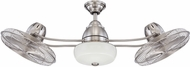 Craftmade BW248SS6 Bellows II Contemporary Stainless Steel Fluorescent Indoor / Outdoor 48 Ceiling Fan