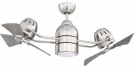 Craftmade BW250BNK6 Bellows Duo Contemporary Brushed Polished Nickel LED 50 Ceiling Fan