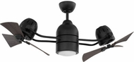 Craftmade BW250FB6 Bellows Duo Modern Flat Black LED 50  Home Ceiling Fan