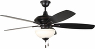 Craftmade CN52OBG5-WG Copeland Oiled Bronze Gilded LED 52 Home Ceiling Fan