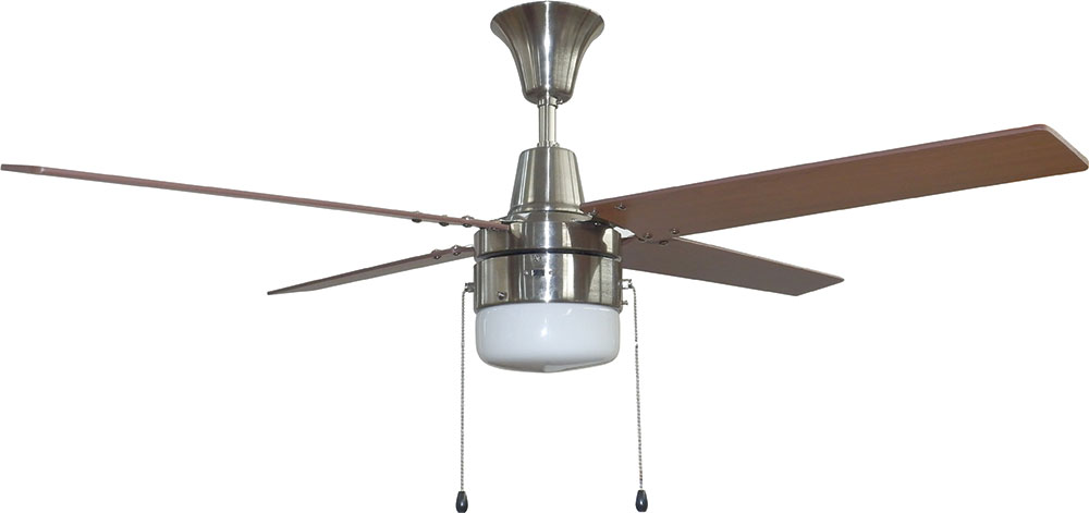 48 ceiling fan industrial craftmade con48bnk4c1 connery brushed polished nickel led 48nbsp ceiling fan loading zoom 48