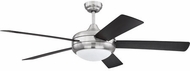 Craftmade CRO52BNK5 Cronus Modern Brushed Polished Nickel LED 52  Ceiling Fan
