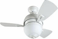 Craftmade DA30W3 Dane Modern White Halogen Indoor 30  Home Ceiling Fan