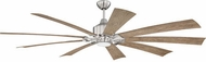 Craftmade EAS70BNK9 Eastwood Modern Brushed Polished Nickel LED 70  Ceiling Fan
