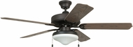 Craftmade END52ABZ5C Enduro Aged Bronze Brushed Indoor / Outdoor 52 Ceiling Fan
