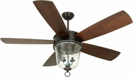 Craftmade FB60OBG5 Fredericksburg Oiled Bronze Gilded Indoor / Outdoor 60  Home Ceiling Fan