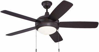 Craftmade HE52OBG5-WG-LED Helios Oiled Bronze Gilded LED 52  Ceiling Fan