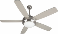 Craftmade HE52SS5 Helios Contemporary Stainless Steel Halogen Indoor 52  Home Ceiling Fan