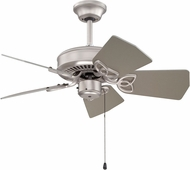 Craftmade K10149 Piccolo Brushed Satin Nickel Indoor / Outdoor 30  Ceiling Fan