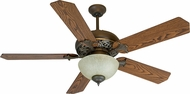 Craftmade K10238 Mia Aged Bronze/Vintage Madera Fluorescent Indoor 52 Home Ceiling Fan