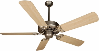 Craftmade K10602 American Tradition Brushed Satin Nickel Indoor 52  Ceiling Fan
