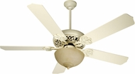Craftmade K10618 Cecilia Unipack Antique White Distressed Fluorescent Indoor 52  Ceiling Fan
