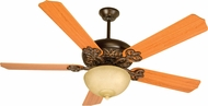 Craftmade K10619 Cecilia Unipack Oiled Bronze Gilded Fluorescent Indoor 52  Home Ceiling Fan
