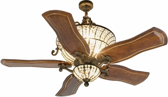 Craftmade K10663 Cortana Peruvian Bronze Halogen Indoor 54  Home Ceiling Fan