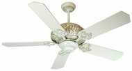 Craftmade K10727 Ophelia Antique White Distressed Indoor 52  Ceiling Fan
