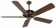 Craftmade K10811 American Tradition Aged Bronze Textured Indoor 52  Home Ceiling Fan