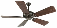 Craftmade K10813 American Tradition Aged Bronze Textured Indoor 54  Home Ceiling Fan