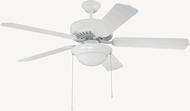 Craftmade K11130 Pro Builder 209 White Fluorescent Indoor 52  Ceiling Fan