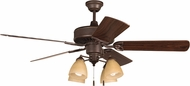 Craftmade K11195 American Tradition Oiled Bronze Fluorescent Indoor 52 Ceiling Fan