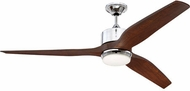 Craftmade K11290 Mobi Contemporary Chrome LED 60  Ceiling Fan