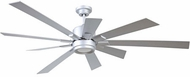 Craftmade KAT72TI9 Katana Contemporary Titanium LED 72  Ceiling Fan