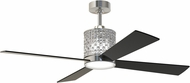 Craftmade MAR52BNK4 Marissa Contemporary Brushed Polished Nickel LED 52  Ceiling Fan