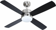 Craftmade MN44BNK4-LED-UCI Montreal Contemporary Brushed Polished Nickel LED 44 Ceiling Fan