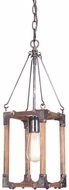 Craftmade P590FSNW1 Mason Contemporary Fired Steel / Natural Wood Foyer Lighting