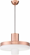 Craftmade P842MRG-LED Contemporary Mirrored Rose Gold LED Drop Ceiling Light Fixture