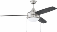 Craftmade PHA52BNK3-BNGW Phaze 3 Blade Brushed Polished Nickel Home Ceiling Fan