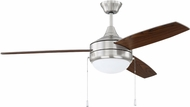 Craftmade PHA52BNK3-UCI Phaze Contemporary Brushed Polished Nickel LED 52  Home Ceiling Fan