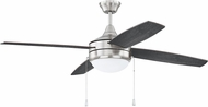 Craftmade PHA52BNK4-BNGW Phaze 4 Blade Brushed Polished Nickel Home Ceiling Fan