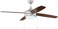 Craftmade PHA52BNK4-UCI Phaze Modern Brushed Polished Nickel LED 52  Ceiling Fan