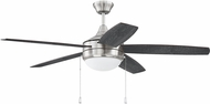 Craftmade PHA52BNK5-BNGW Phaze 5 Blade Brushed Polished Nickel Home Ceiling Fan