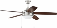 Craftmade PHA52BNK5-UCI Phaze Contemporary Brushed Polished Nickel LED 52  Home Ceiling Fan