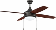 Craftmade PHA52ESP4-UCI Phaze Modern Espresso LED 52  Home Ceiling Fan