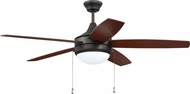 Craftmade PHA52ESP5-UCI Phaze Contemporary Espresso LED 52  Ceiling Fan
