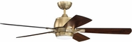 Craftmade STE52SB5-UCI Stellar Contemporary Satin Brass LED 52 Home Ceiling Fan