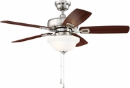 Craftmade TCE42BNK5C1 Twist N Click Brushed Polished Nickel LED 42 Ceiling Fan