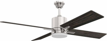 Craftmade TEA52BNK4-UCI Teana Contemporary Brushed Polished Nickel LED 52 Home Ceiling Fan