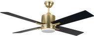 Craftmade TEA52SB4 Teana Modern Satin Brass LED 52  Ceiling Fan