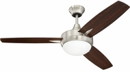 Craftmade TG48BNK3 Targas Contemporary Brushed Polished Nickel LED 48 Home Ceiling Fan