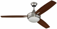 Craftmade TG52BNK3 Targas Modern Brushed Polished Nickel LED 52  Home Ceiling Fan