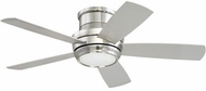 Craftmade TMPH44BNK5 Tempo Hugger Modern Brushed Polished Nickel LED 44 Home Ceiling Fan
