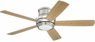 Craftmade TMPH52BNK5 Tempo Hugger Contemporary Brushed Polished Nickel LED 52 Home Ceiling Fan