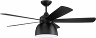 Craftmade VEN52FB5 Ventura Flat Black LED Home Ceiling Fan