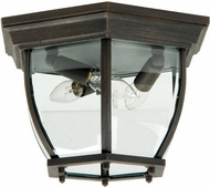 Craftmade Z433-RT Bent Glass Rust Outdoor 11  Ceiling Light